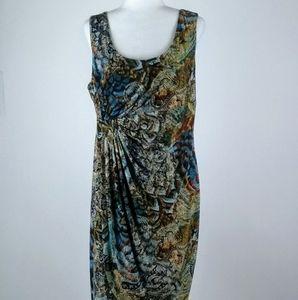 Connected Apparel faux wrap dress size 16